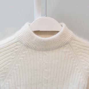 中大童套头纯色打底衫 女童加厚白色冬季 儿童毛衣男童羊绒衫 羊毛衫