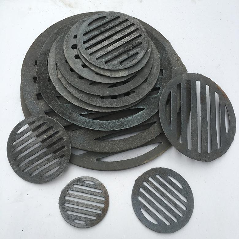 炉条园形烧烤炉箅子生铁铸铁耐高温炉桥下水道堵垃圾耐腐蚀排水口
