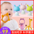 Teething stick baby bite baby mushrooms can be boiled teether anti-eat artifact silicone Le teeth chew toy