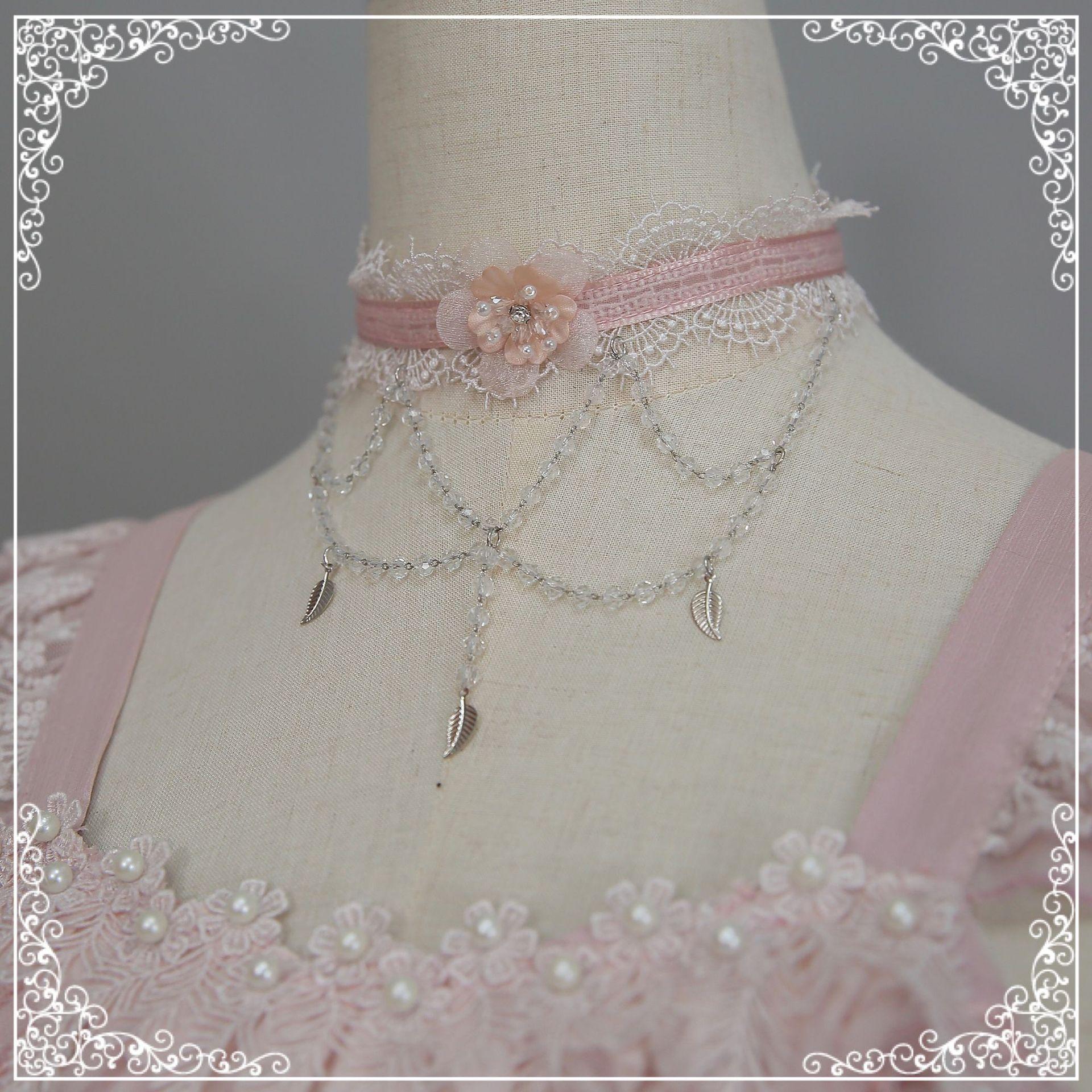 花入羽と小物のネックレスオリジナルロリータの首飾りチェーンの首飾りLolitaペンダント