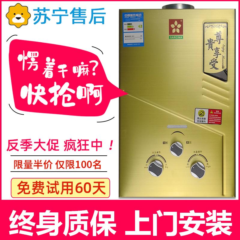 燃气热水器家用液化气煤气天然洗澡直强排式免水压6升8升12-02新券