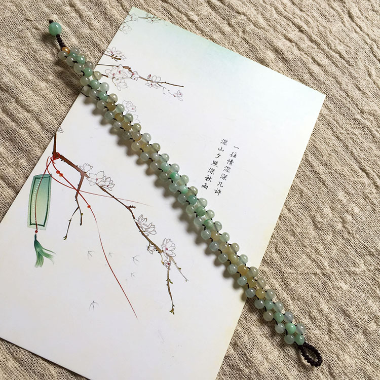 Myanmar natural jadeite jade string beads bracelet a goods a variety of jadeite ice women with certificate jade jewelry