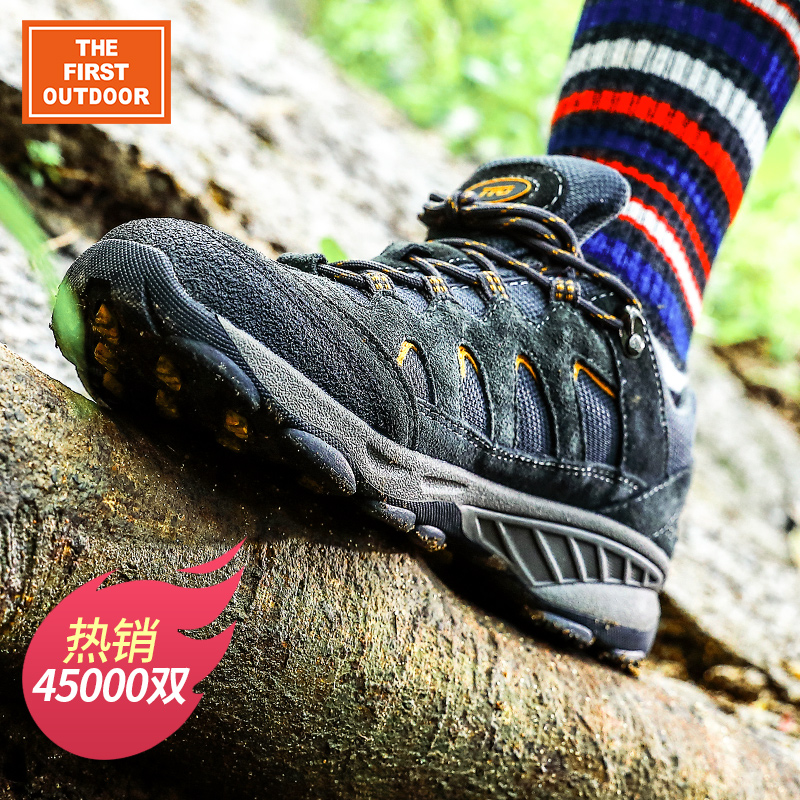 Americas first outdoor mountaineering shoes mens waterproof and antiskid travel desert mountaineering hiking shoes womens sports low top shoes