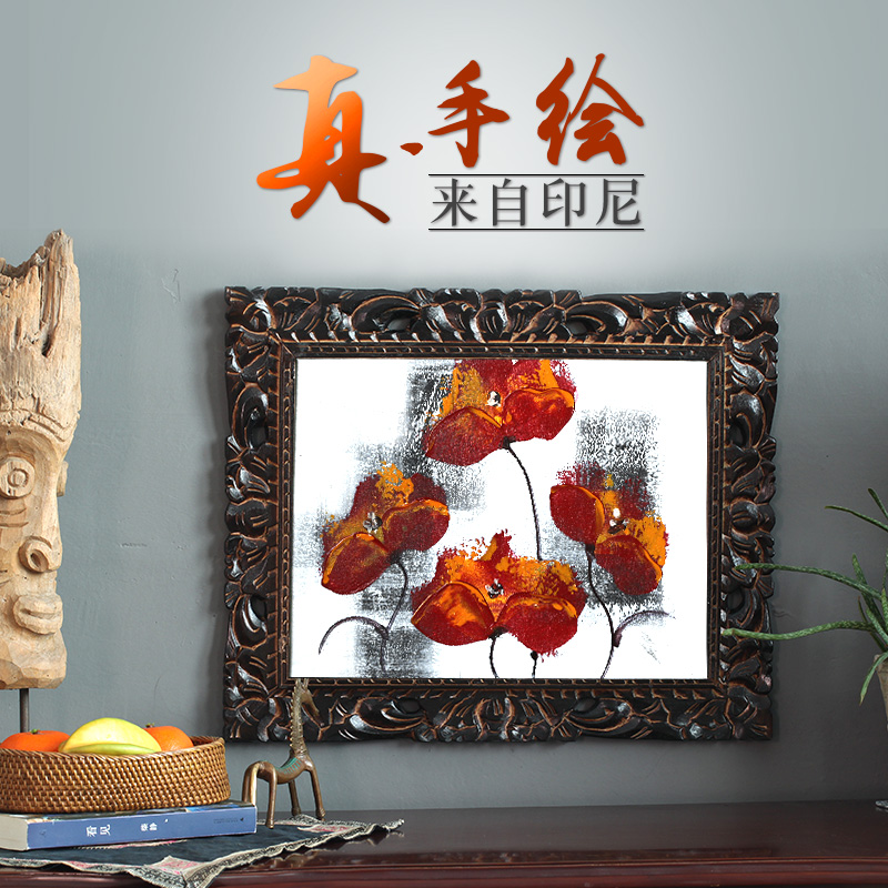 Mural hand painted oil painting decorative painting hand painted oil painting from Indonesia each is different