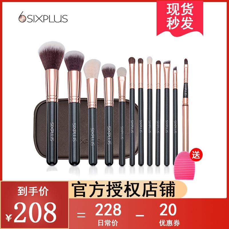 SIXPLUS noble Makeup Brush Set 12 animal hair foundation brush, eye shadow brush lip brush, full set of makeup tools.