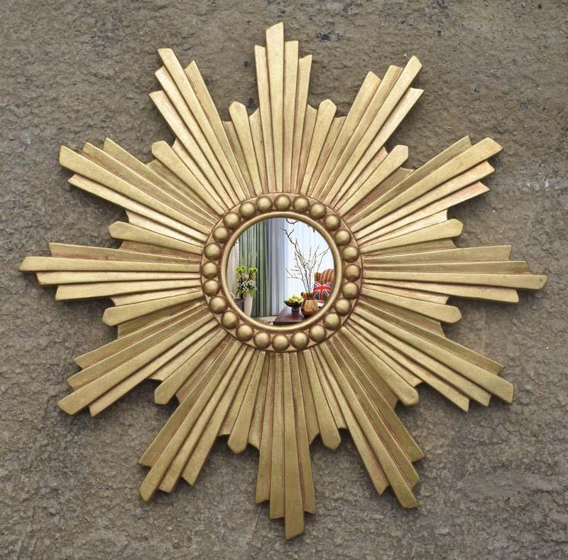 New European style porch mirror, bathroom mirror, sun wall hanging mirror, decorative mirror, sales office, model room, wall, American mirror