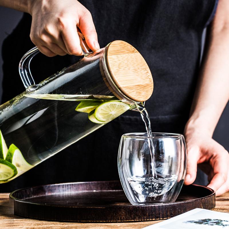 Lototo日式玻璃杯壶套装家用杯子凉水壶茶壶创意宜家好看的水杯女