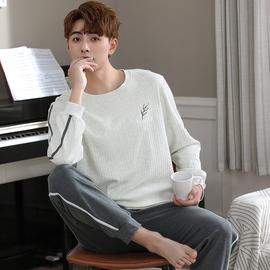 韩版男士睡衣春秋季可外穿纯棉长袖两件套装秋冬天休闲宽松家居服