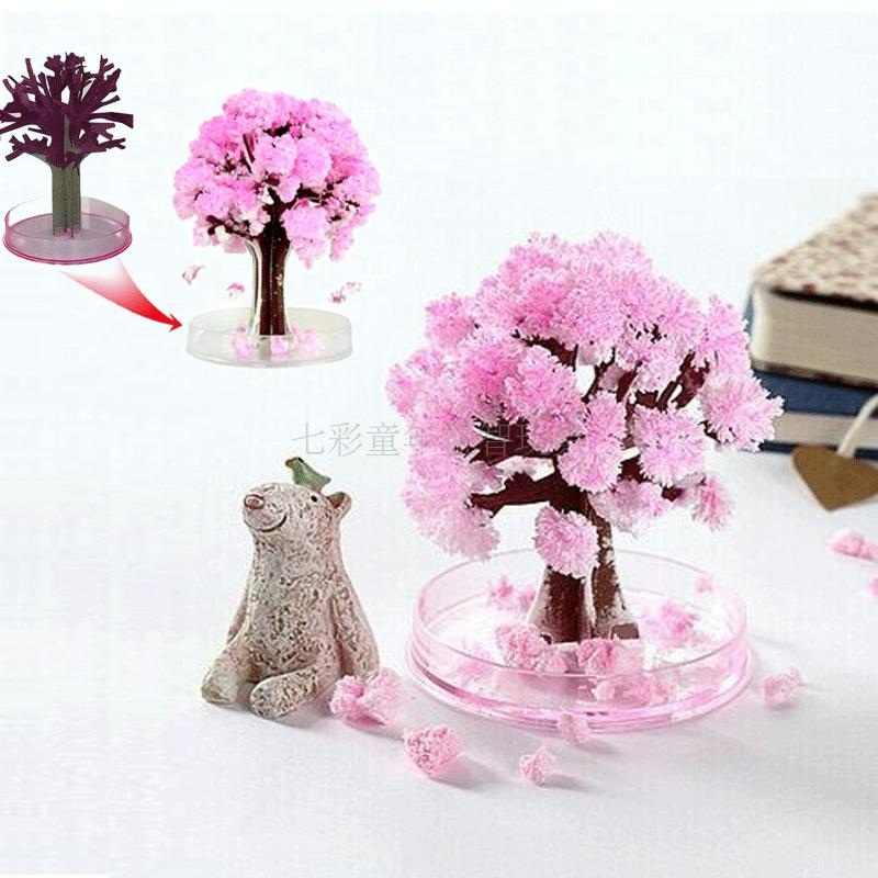 DIY toys science experiment crystal toys Christmas decorations paper tree flowering Christmas tree 3 parcels