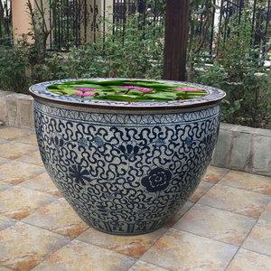 景德镇复古碗莲盆门海仿古陶瓷鱼缸