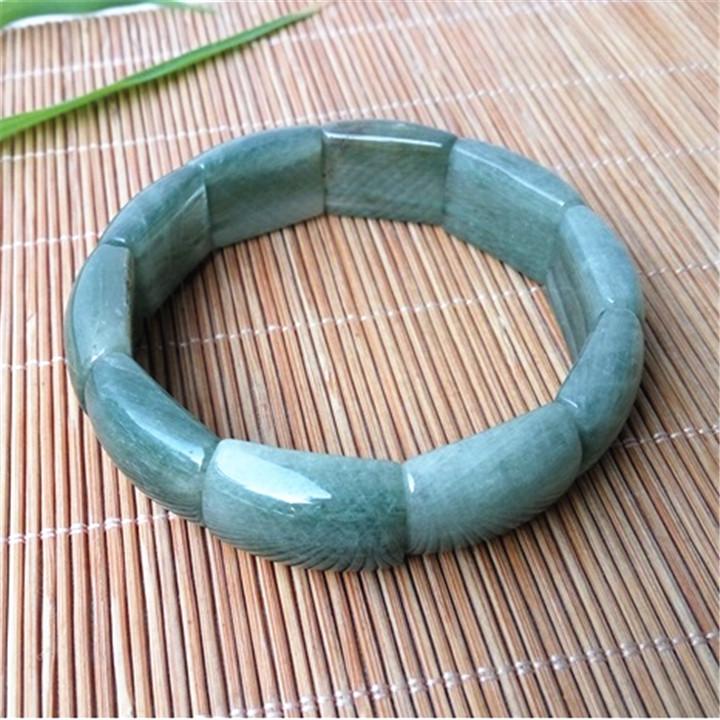 巴西天然绿发晶手排 绿发丝水晶手镯财运吉祥护身符手链男女款20M