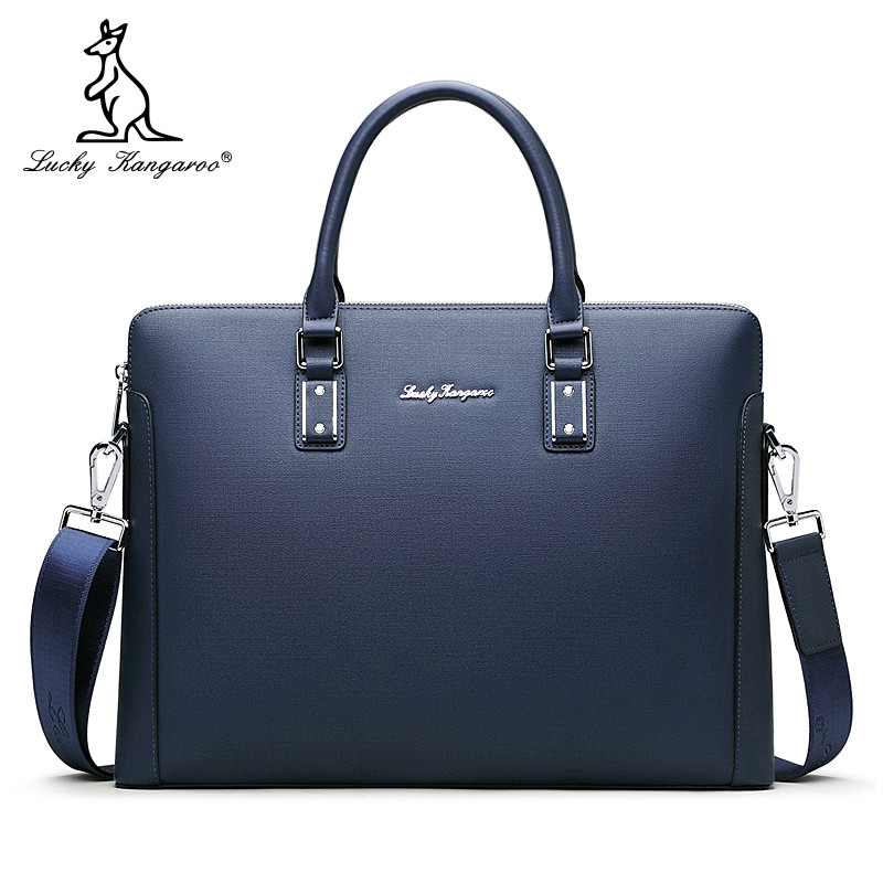 Lucky Kangaroo Leather Men's bag business bag men's handbag hand Briefcase Shoulder Bag Messenger Bag