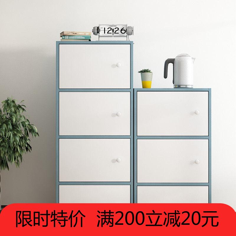 不包邮简易书架简约落地收纳置物架经济型储物柜自由组合书柜桌上小架子