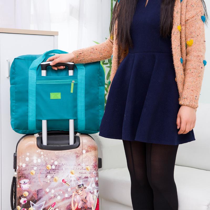 Корейский портативный из разница багаж пакет складные водонепроницаемый одежда разбираться большой мощность мужской и женщины портативный сумка