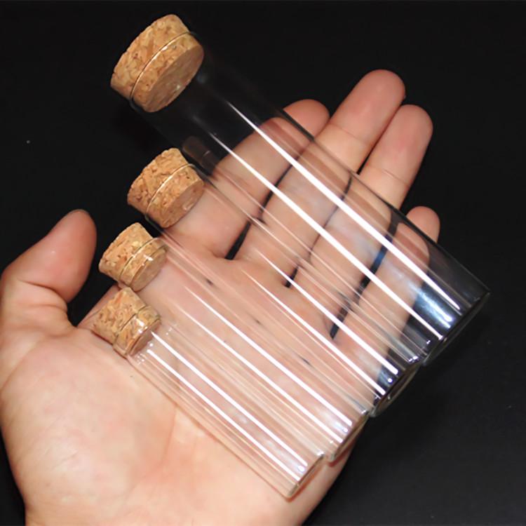 平底试管 木塞试管30*120 耐高温加厚玻璃试管 60ml 化学实验仪器