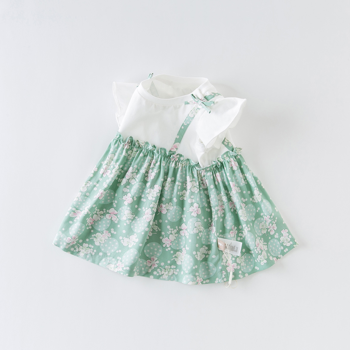 Davi Bella children's clothing new girl dress summer baby short-sleeved top children's skirt floral dress