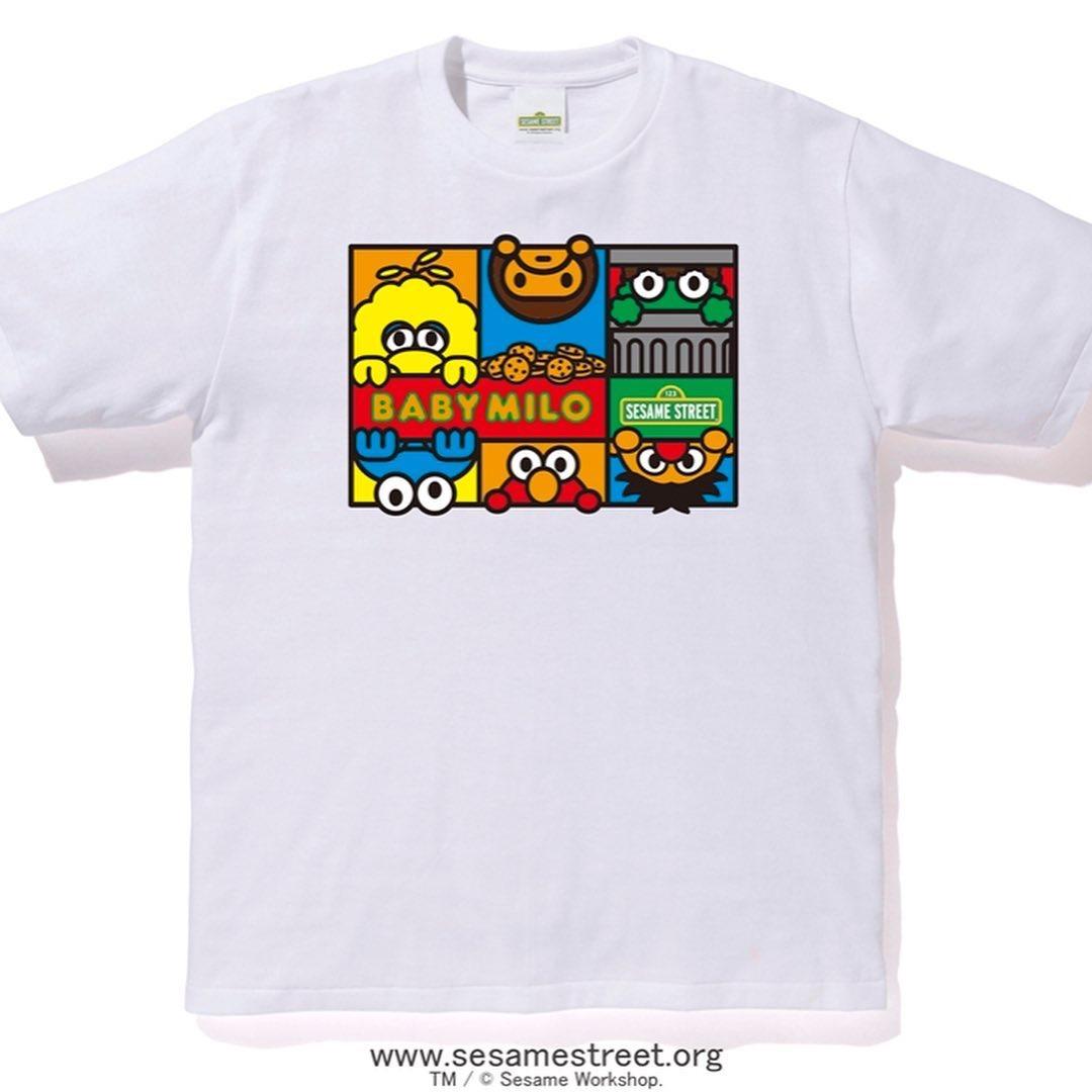 欢欢代购 BAPE X 芝麻街SESAME STREET 情侣潮牌系列短袖T恤 8款T