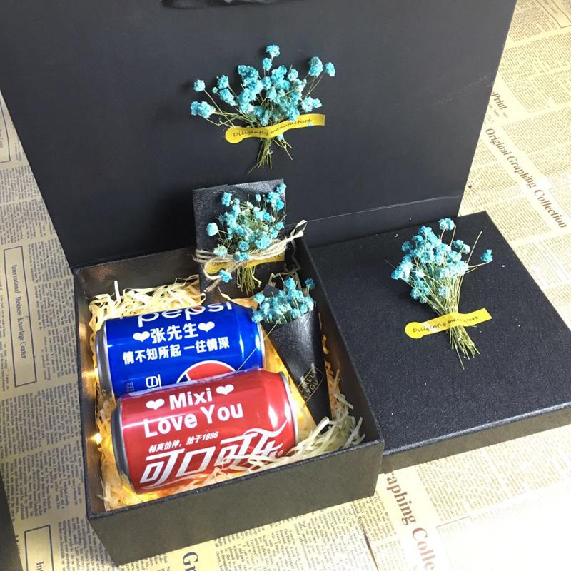 可乐定制礼盒装百事可乐易拉罐定制生日礼品刻字创意DIY礼物