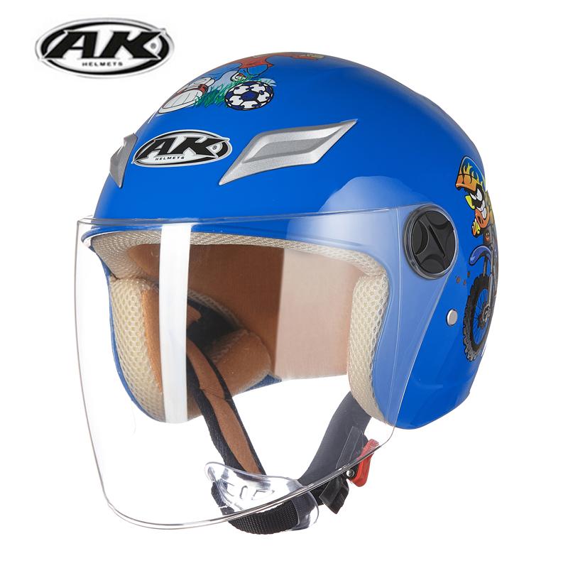 艾凯儿童头盔电动车半盔卡通小孩四季保暖头盔学生安全帽防雨冬盔
