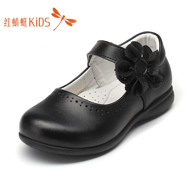 Red Dragonfly children's shoes girl's leather shoes leather princess shoes 2020 spring and autumn new student performance shoes children's single shoes