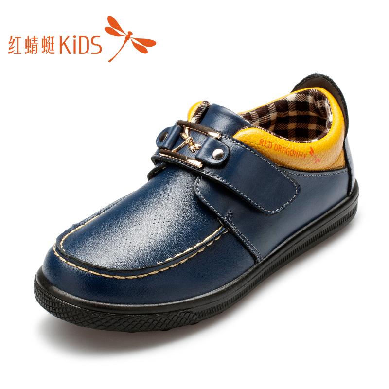紅蜻蜓男童鞋 英倫風男童皮鞋真皮 春秋款中小童 皮鞋