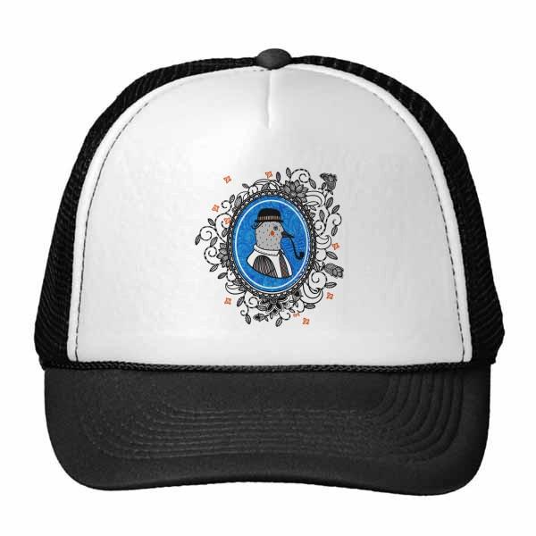 巴洛克艺术鸽子帽子烟斗花画框鸭舌帽棉质户外运动帽子棒球帽礼物