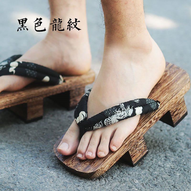 阴阳师平底袜子儿童日木屐式男凉鞋夏季雪女夹脚人字动漫大和个性