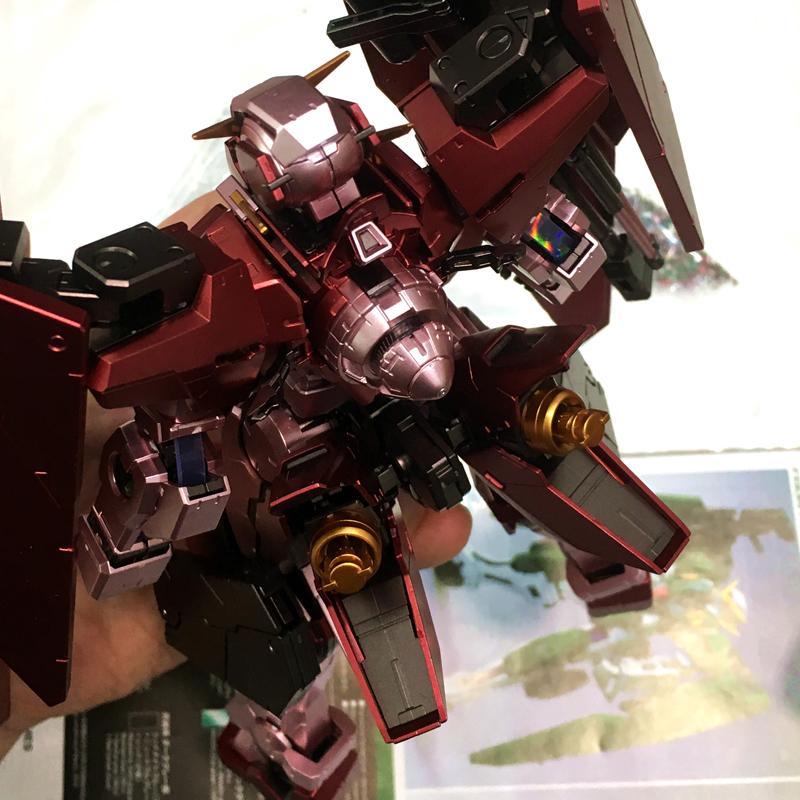 千手万代金属着色MG 1/100 GN-002 力天使00高达拼装模型男孩礼物