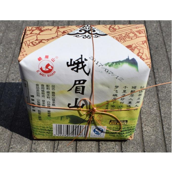 5盒包邮 四川乐山特产特色峨眉山茶糕160g传统绿茶糕香甜峨眉糕
