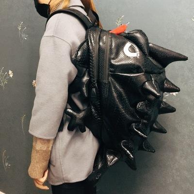 机车背包男可放全盔时尚网红酷防水包铁骑装备包纯黑色街头风嘻哈