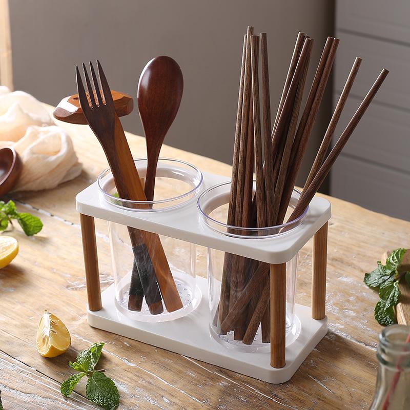 Быстросохнущие бамбуковые и пластиковые палочки для еды в японском стиле домашние столы с двойными бочками стеллажи для палочек для еды