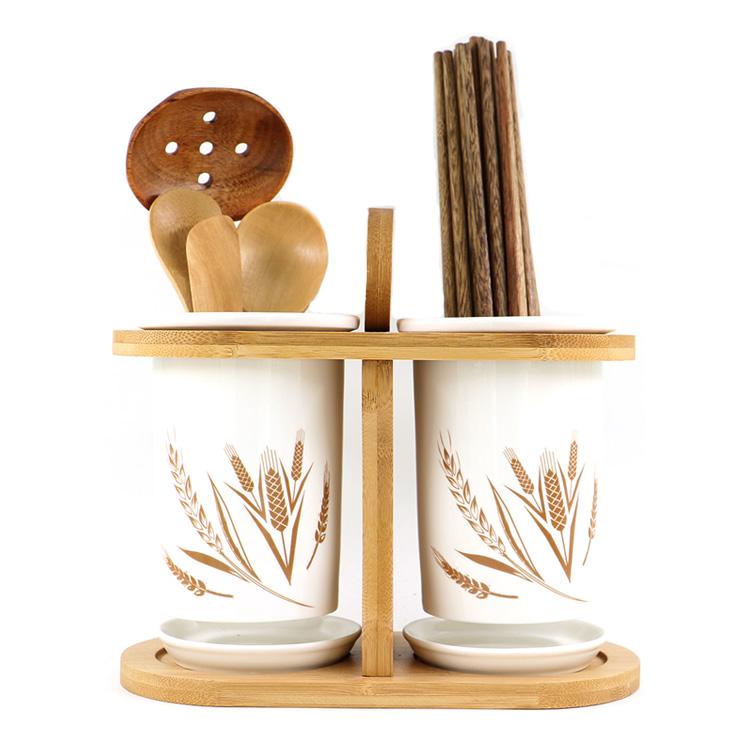 Творческая простота Бамбук-деревянная двухтрубная керамическая палочка для чая в японском стиле Кастрюля для палочек для палочек для еды Палочки для еды Палочки для еды Палочки для еды Палочки для еды Палочки для еды