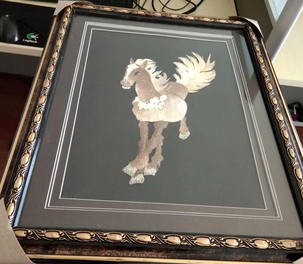 Лошадь успеха 60 * 48 кожи кожи картины Хежен ручная работа Художественная роспись декоративно-прикладного искусства