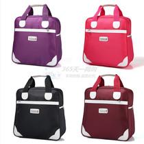 女手提旅行包轻便简约小容量行李包袋单肩旅游健身包背面可套拉杆
