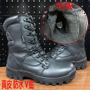 新款君洛克D18010雪狼GTX防水真皮保暖V底作战靴冬季军靴男战术靴