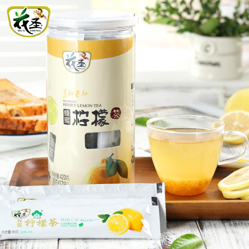 花聖蜂蜜檸檬茶420g旅行裝(便攜袋裝12包^)韓國風味水果汁衝飲品