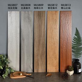北欧仿实木纹砖灰色客厅地板砖阳台地砖防滑瓷砖150x800原木质感