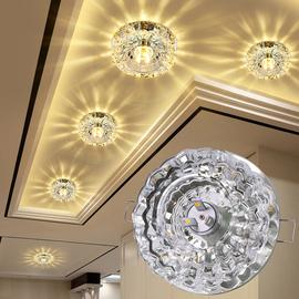 水晶射灯LED天花灯 嵌入式客厅筒灯吊顶过道灯走廊灯玄关灯牛眼灯