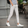 2019 Spring and summer New products Solid Casual pants Ninth pants Thin section cotton-padded trousers Trend Versatile Self cultivation Male 9 points