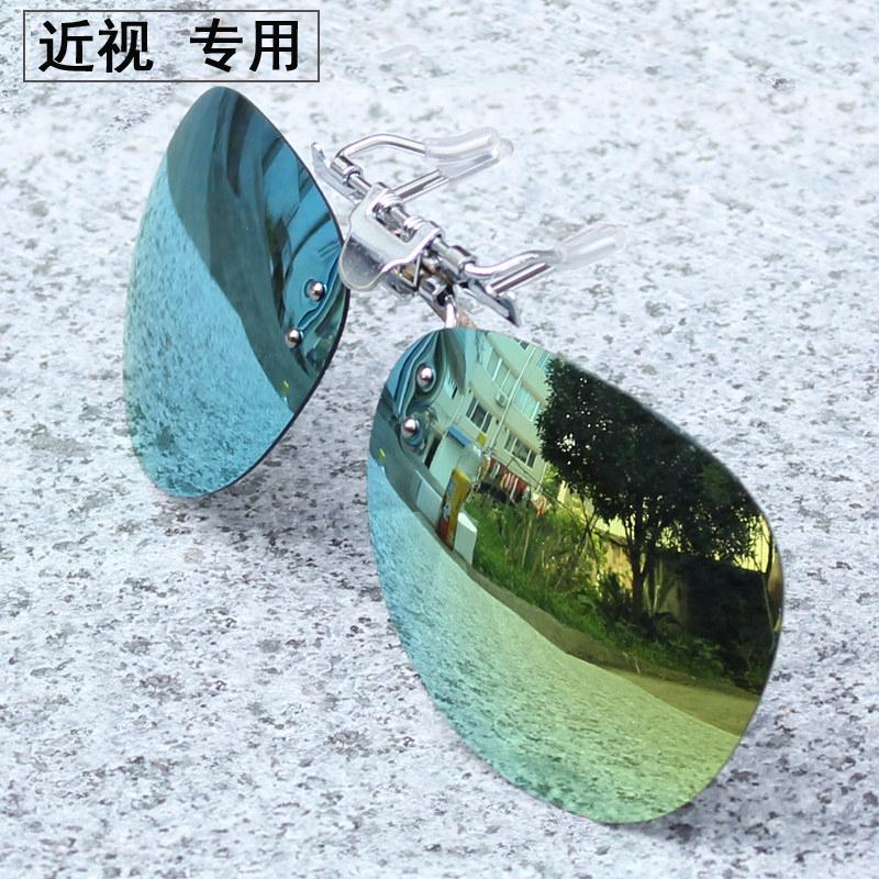 近视太阳镜夹片偏光镜夹片钓鱼镜司机镜男女太阳眼镜片墨镜夹片图片