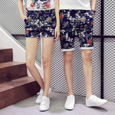 夏季潮男五分小脚休闲短裤 学生沙滩裤 女热裤A029A K23 P30