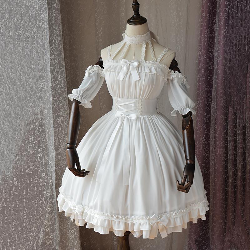 魔法茶会「芭蕾风」原创lolita洛丽塔洋装女日常连衣裙全套-现货