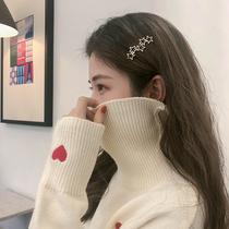 韩国甜美简约五角星星几何镂空发夹边夹一字夹刘海夹金属百搭发饰