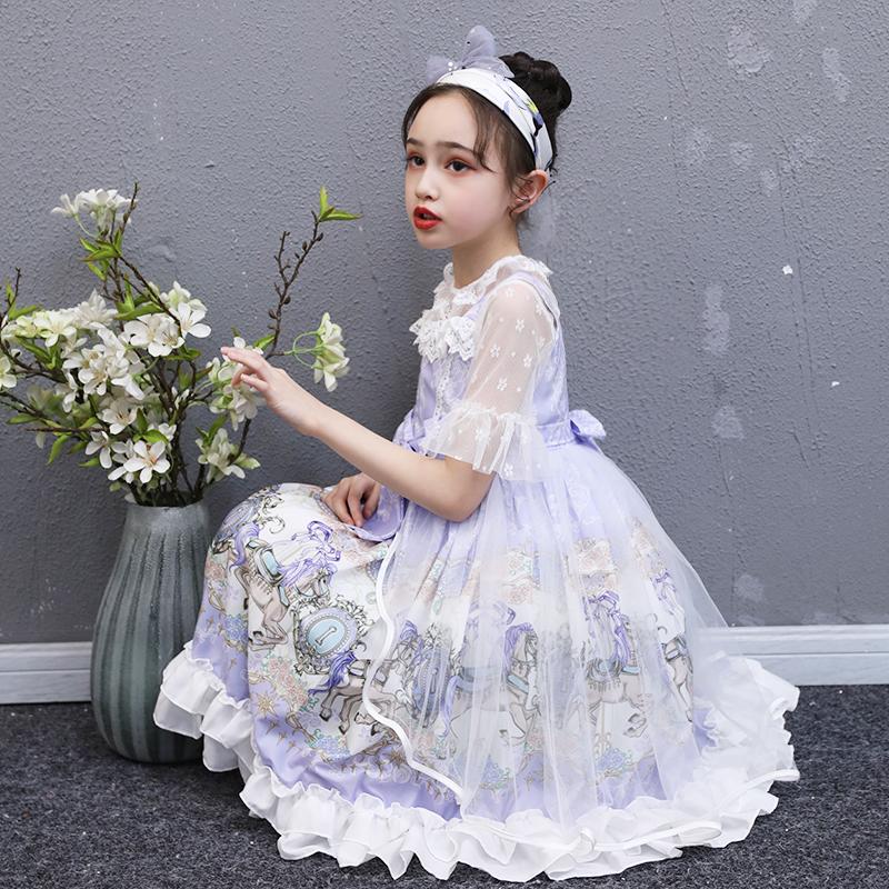 女童洛丽塔连衣裙2020新款儿童夏装蓬蓬纱夏款洋气小女孩公主裙子