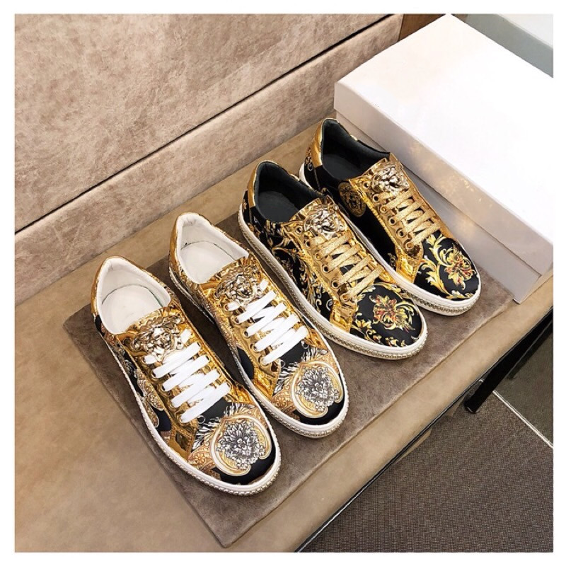 Europe and America super cool totem printed casual shoes personalized metal zipper decorative lace up shoes comfortable low top trendy mens shoes