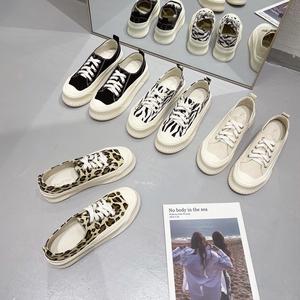 X-25819# 新品韩国板鞋系带圆头纯色单鞋深口交叉松糕鞋女鞋子is帆布鞋 鞋子批发女鞋货源