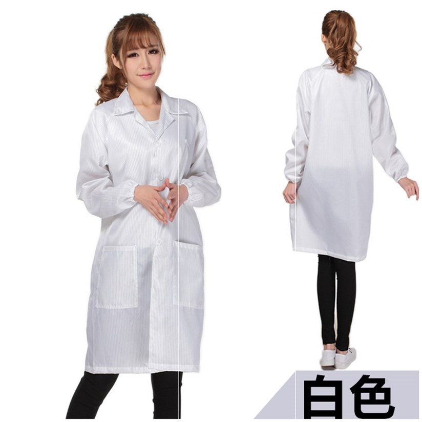 Gas station anti-static work clothes breathable General Factory Lapel thickened coat postal work clothes anti chemical clothing food