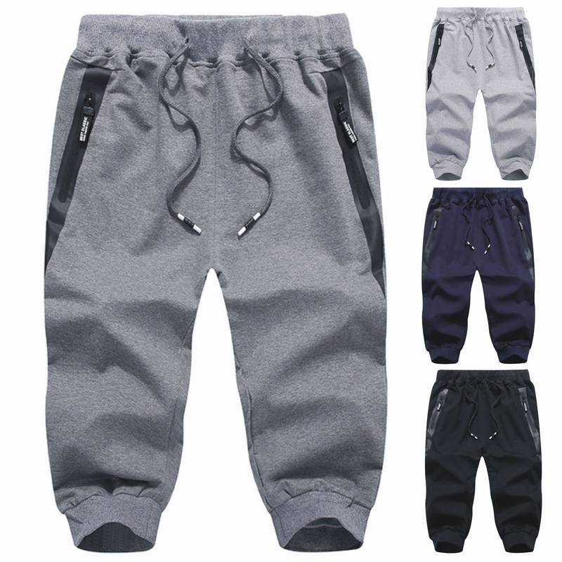 Fashion brand hot summer new Capris mens casual pants youth sports pants fashion Leggings shorts