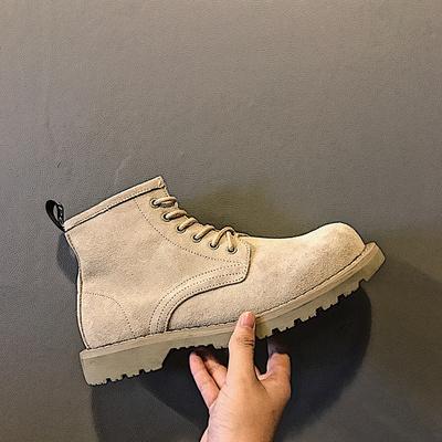 2019英伦基本款男靴短靴子 男式反绒皮鞋马丁靴沙漠靴X301P125