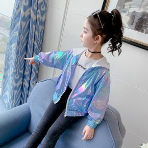 春装女童外套2021新款儿童洋气小女孩夹克网红春秋时髦春季童装潮